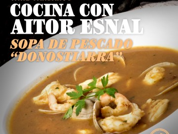 """Cocina con Aitor Esnal – Sopa de pescado """"donostiarra"""" (Onda Cero, 19-12-18)"""