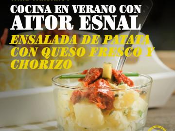 Cocina en verano con Aitor Esnal – Ensalada de patata con queso fresco y chorizo (Onda Cero, 17-7-18)