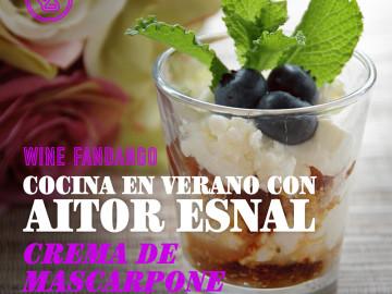 Cocina en verano con Aitor Esnal – Crema de mascarpone con arándanos (Onda Cero, 14-8-19)