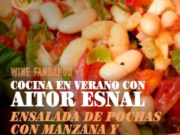 Cocina en verano con Aitor Esnal – Ensalada de pochas con manzana y pimientos (Onda Cero, 21-8-19)