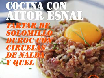 Cocina con Aitor Esnal – Tartar de solomillo Duroc con ciruelas y acelga roja (Onda Cero, 04-09-19)