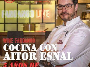 Cocina con Aitor Esnal – 5 años de Wine Fandango (Onda Cero, 07-11-19)