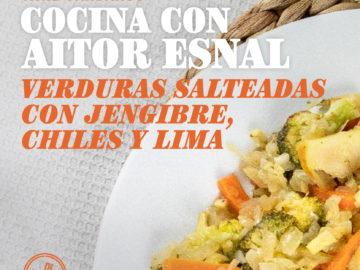 Cocina con Aitor Esnal – Verduras salteadas con jengibre, chiles y lima (Onda Cero, 25-03-20)